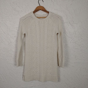 GAP Cable Knit Sweater Dress in Ivory